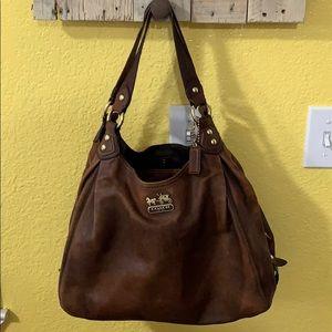 Coach Brown Leather Satchel Bag